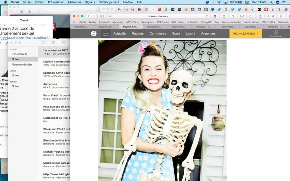 Miley Cyrus toute sage et printanière avec son squelette