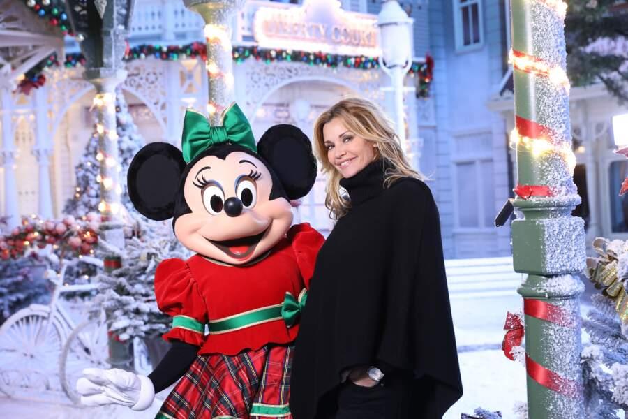 Minnie et l'actrice Ingrid Chauvin