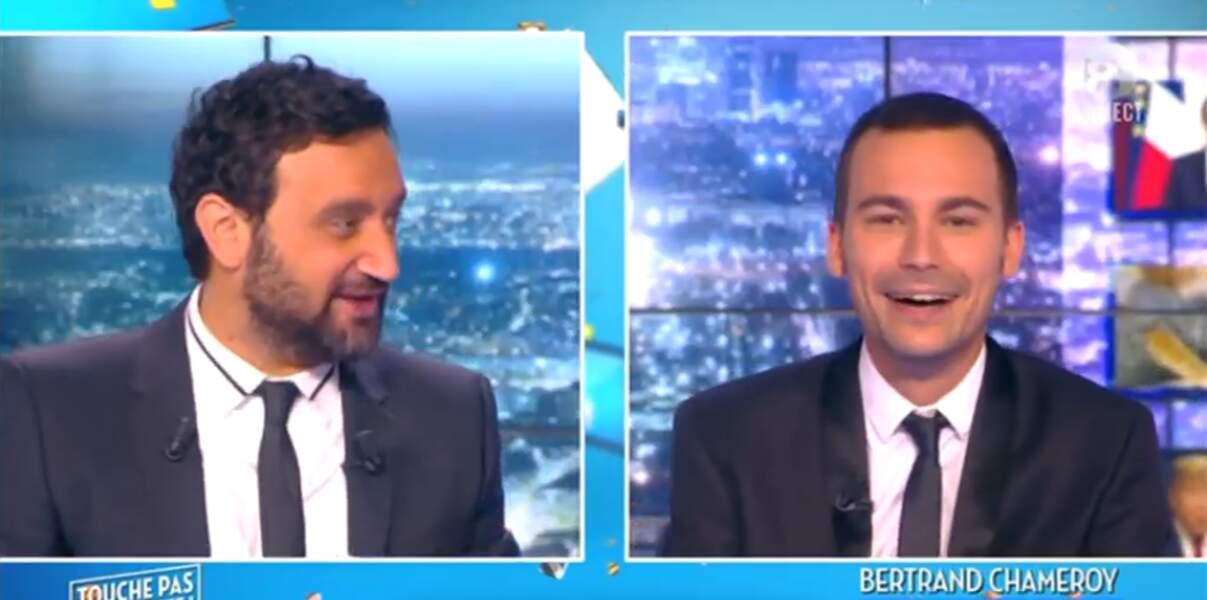 Quoi, des jumeaux ? Non, en fait, il s'agit de Cyril Hanouna et Bertrand Chameroy