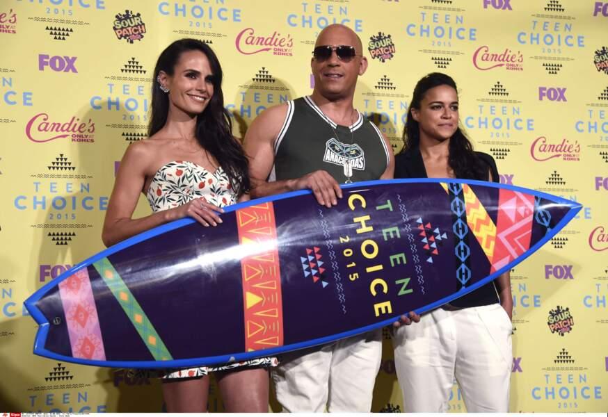 Jordana Brewster, Vin Diesel et Michelle Rodriguez récompensés pour Fast and Furious 7