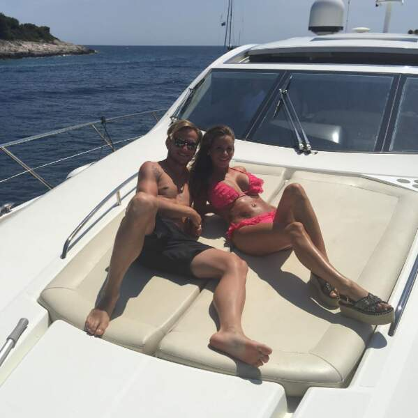 Le footballeur Ivan Rakitic et son épouse Raquel Mauri.