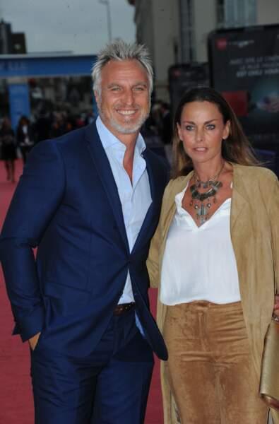 David et Coraline Ginola, mariés depuis 1991.
