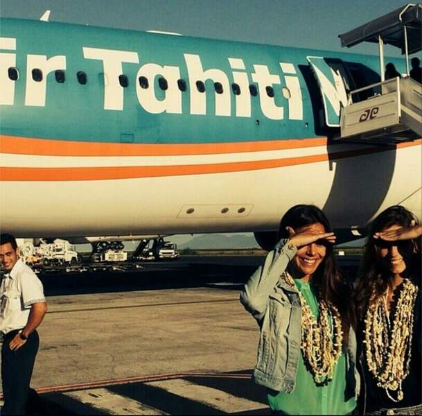 Marine Lorphelin et Alexandra Rosenfeld : deux jolies Tahitiennes