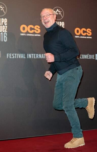Olivier Baroux était visiblement pressé d'assister à la cérémonie d'ouverture du festival