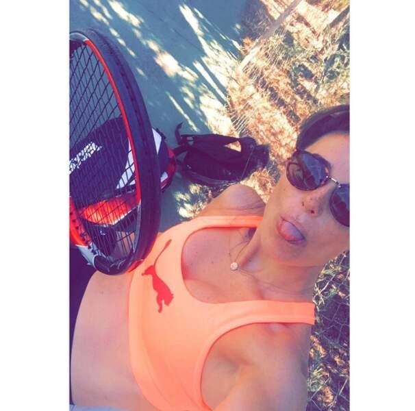 Capucine Anav a fait du tennis. Pas de repos, même l'été.
