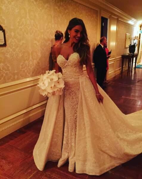 La robe très élégante de la mariée, signée Zuhair Murad