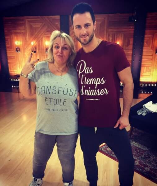 Tee-shirts assortis pour Valérie Damidot et son partenaire Christian Millette