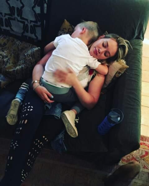 La star multiplie les clichés avec son fils