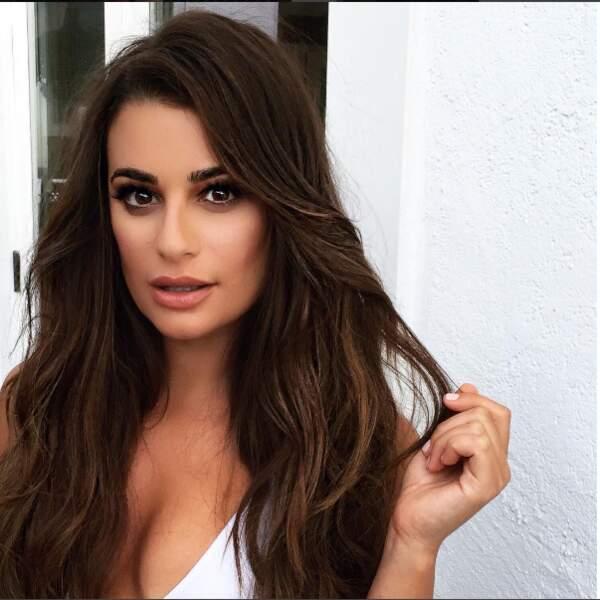 Voici Lea Michele, actrice américaine et notamment l'une des héroïne de la série Glee