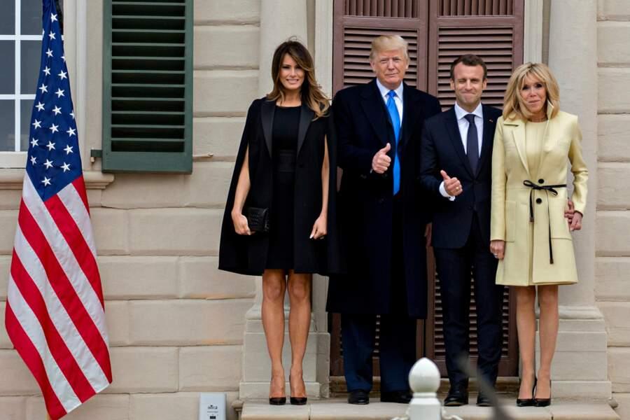 Brigitte Macron et Melania Trump rivalisaient d'élégance