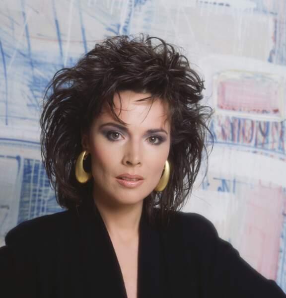 Chez les MacLaine, voici Margo (Lauren Koslow) présente de 1987 à 1992. Cette photo date de 1990