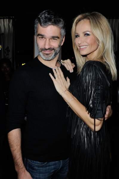 Francois Vincentelli et Adriana Karembeu lors de la soirée anniversaire des 20 ans de Wonderbra