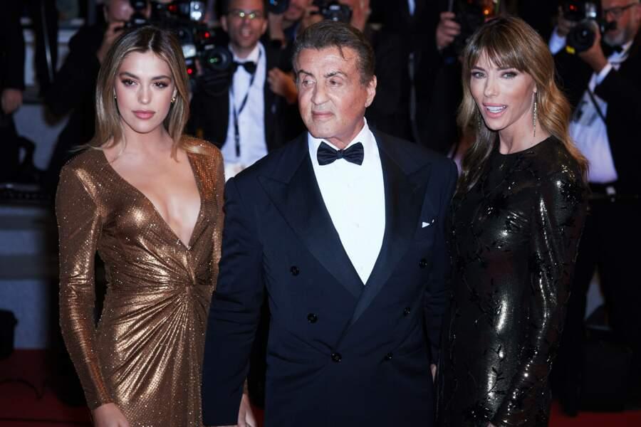 Sylvester Stallone avec sa fille Sistine Rose et sa femme Jennifer Flavin