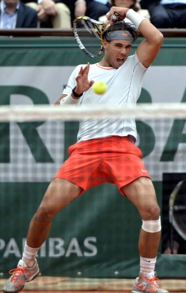 Après un tel match, pas étonnant que Rafael se fasse peur lui-même en sentant ses aisselles !