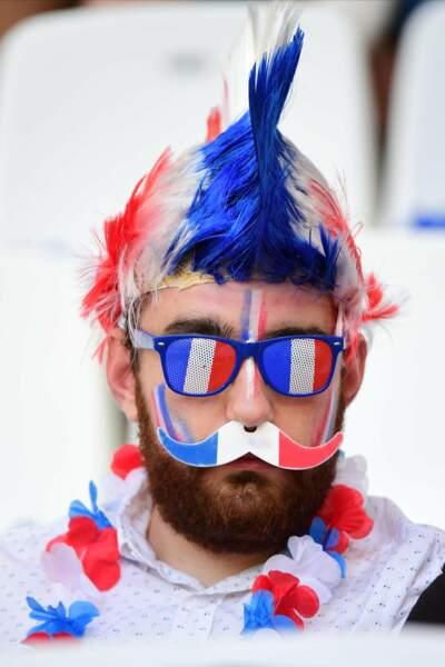 Encore une fois, les supporters des Bleus ont tout misé sur le déguisement
