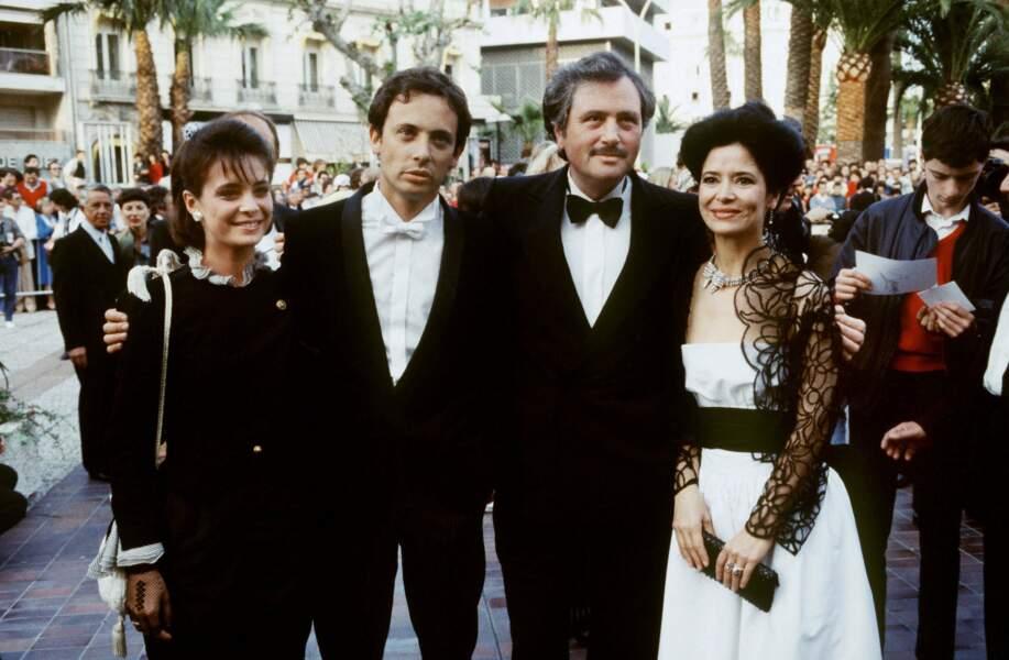 Victor Lanoux à Cannes avec sa femme de l'époque, l'actrice Marie-Jose Nat
