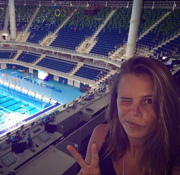 Laure Manaudou est bien arrivée au Brésil.