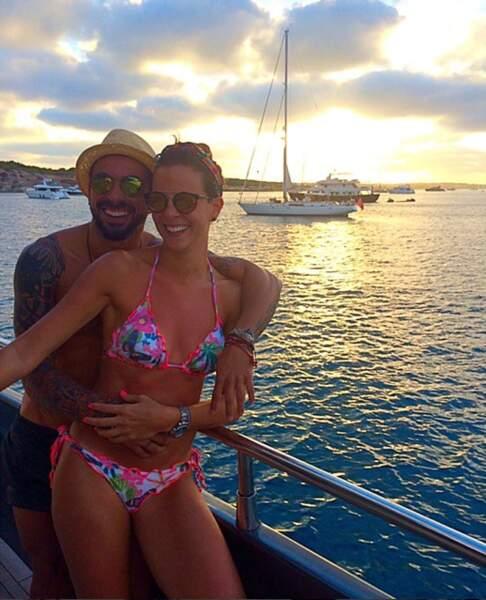Ezequiel Lavezzi a savouré ses vacances en amoureux avec Yanina Screpante