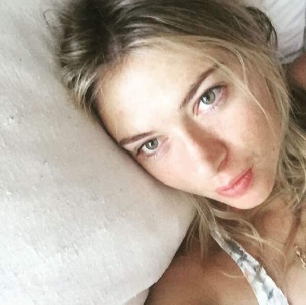 Maria Sharapova au réveil