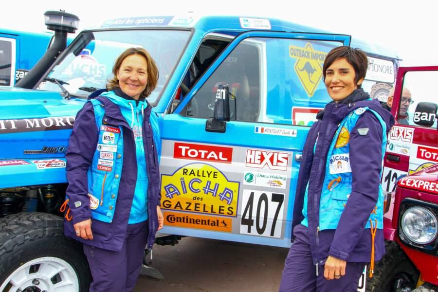Carole Montillet a participé à plusieurs Rallye Aïcha des Gazelles du Maroc. Elle l'a même remporté en 2004 et 2005