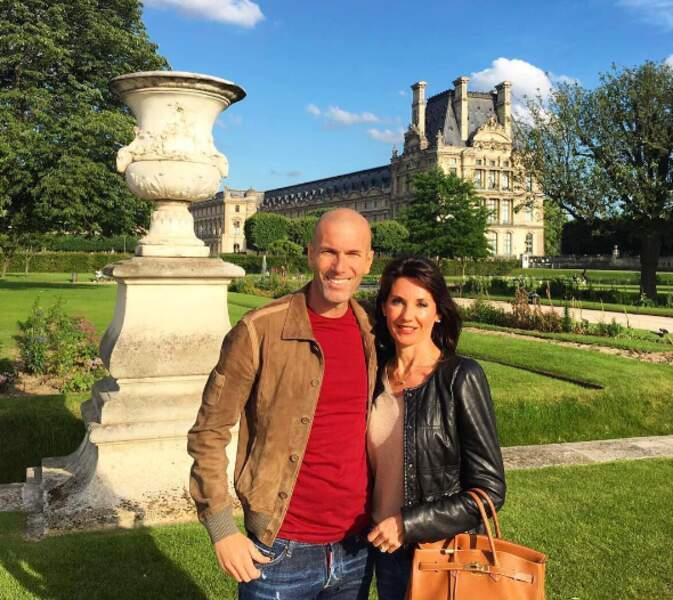 Et Zinédine Zidane et sa femme Véronique ont fait une petite escapade à Paris.