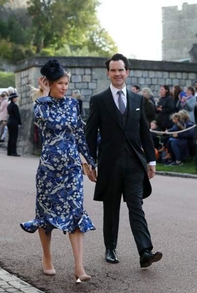 Le comique britannique Jimmy Carr et sa compagne Karoline Copping