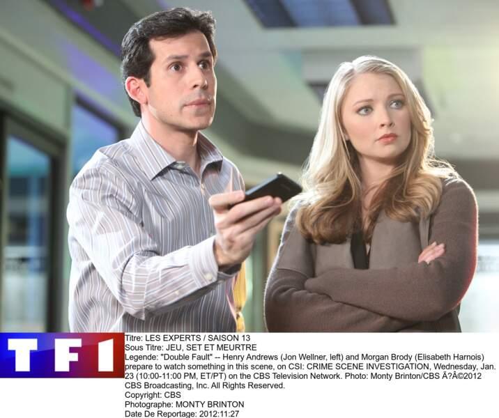 Ici, Henry Andrews (Jon Wellner) et Morgan Brody (Elisabeth Harnois) qui sont en pleine action
