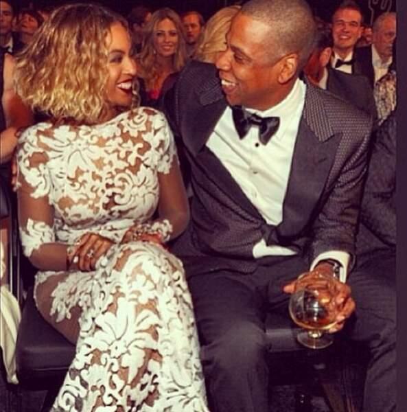 Le duo glamour : Jay-Z et Beyoncé Knowles aux Grammy Awards.