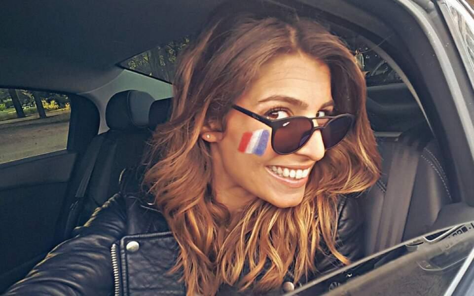 Laury Thilleman, supportrice des Bleus !