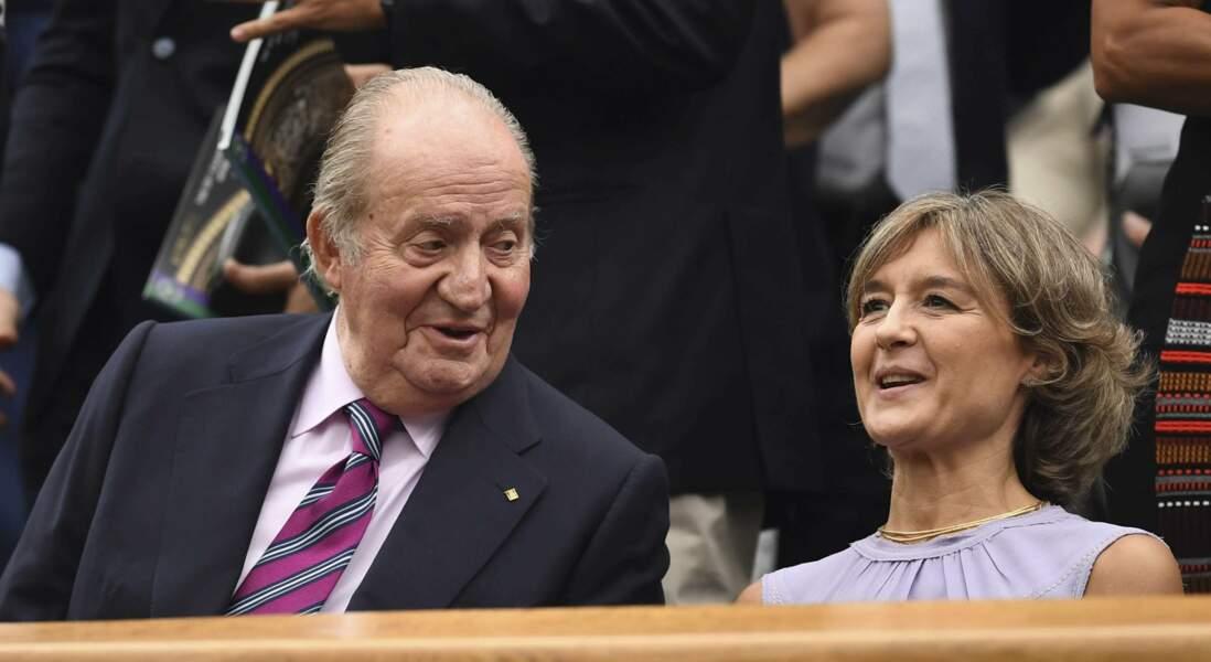 L'ancien roi d'Espagne Juan Carlos a assisté au sacre de sa compatriote Garbine Muguruza