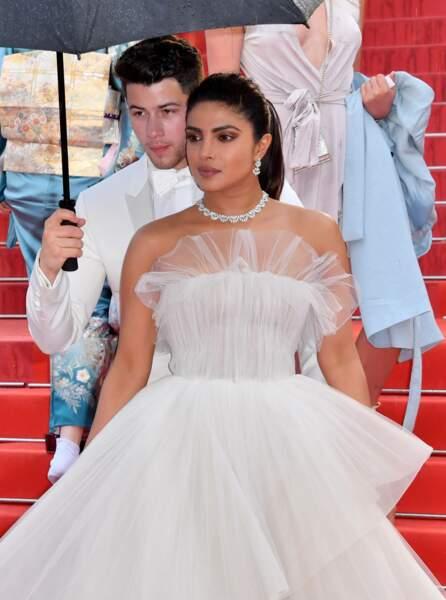 Nick Jonas et Priyanka Chopra pour la montée des marches des plus belles années d'une vie