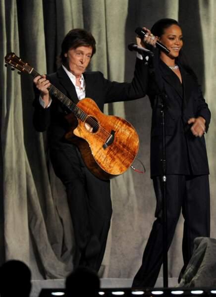Rihanna, quelle chanceuse : elle a pu chanter avec Sir Paul McCartney...