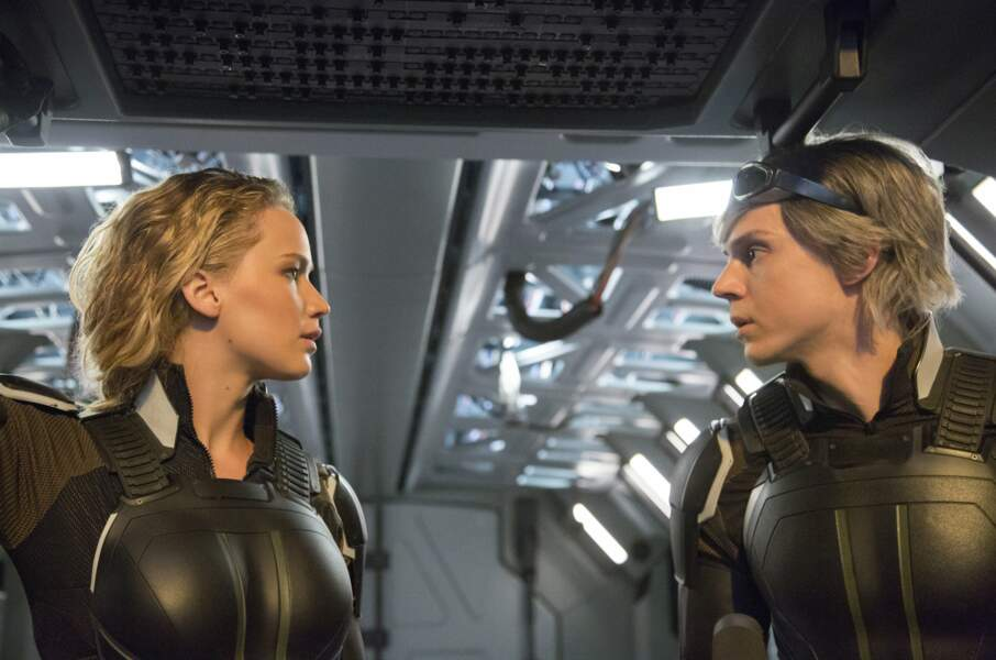X-Men : Apocalypse : Mystique (Jennifer Lawrence) et Quicksilver (Evan Peters) affrontent le tout premier mutant