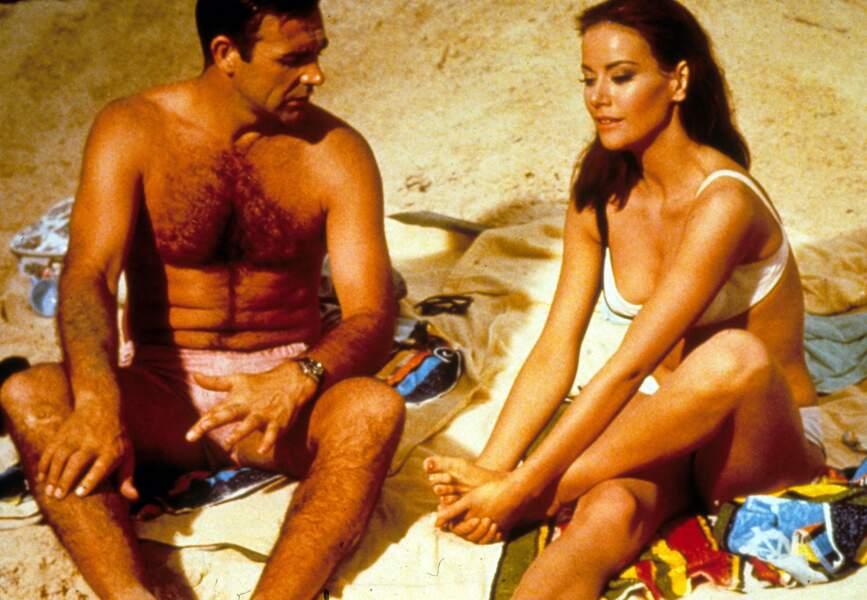 Opération Tonnerre (1965) : Claudine Auger et Sean Connery