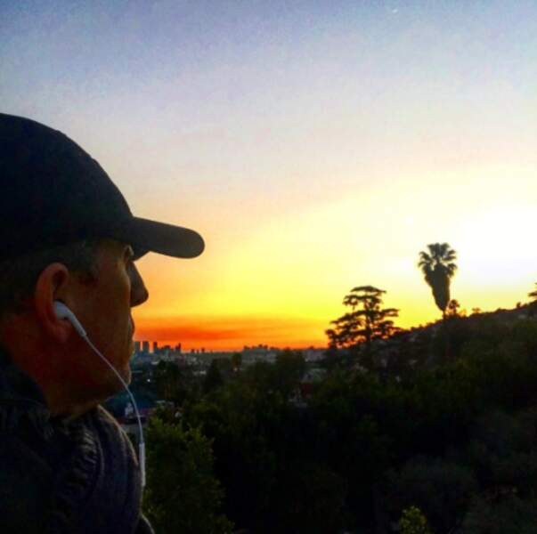 Gad Elmaleh aime les couchers de soleil américains.