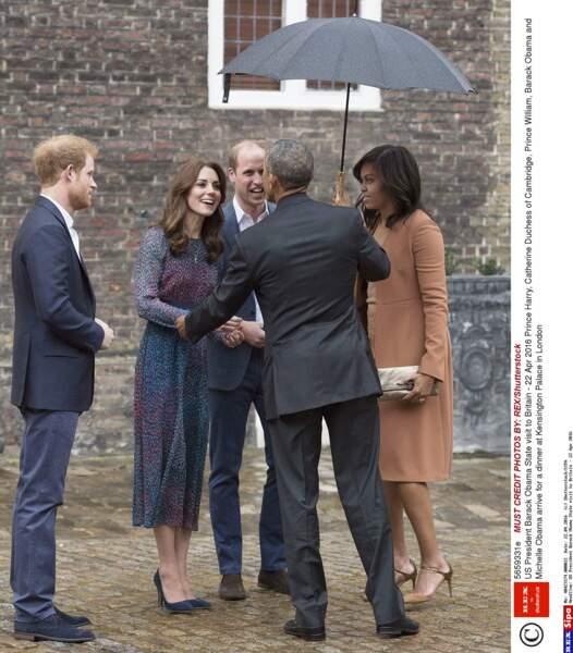 Barack Obama a salué le duc et la duchesse de Cambridge