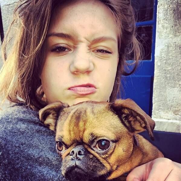 Adèle adooooore les animaux et plus particulièrement les chiens