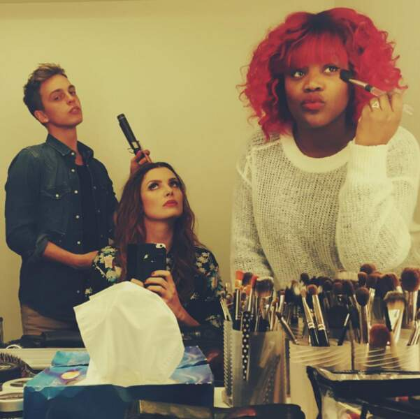 Puis séance maquillage pour les castings dans la ville lumière...