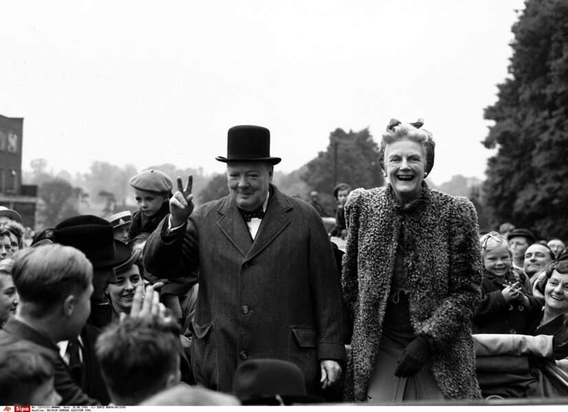 Winston Churchill pouvait compter sur le soutien de son épouse Clementine...