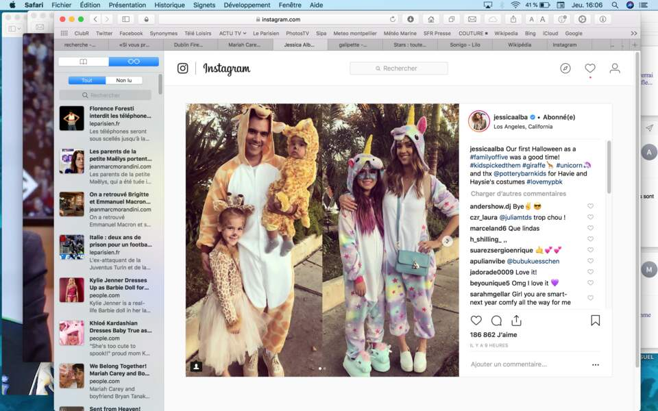 C'était le premier Halloween pour le troisième enfant de Jessica Alba, né fin 2017