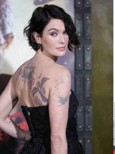 Autre tatouée célèbre : Lena Headey.