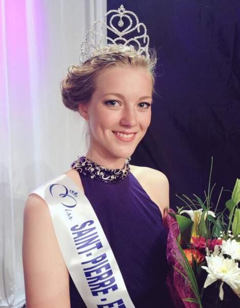 Cette jolie blonde se nomme Julie Briand, Miss Saint-Pierre-et-Miquelon