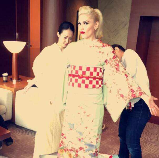 ... et s'est transformée en geisha !
