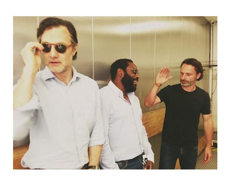 Pendant que le Gouverneur (David Morrissey) regarde ailleurs, Tyreese met un gros vent à Rick. Ouch !
