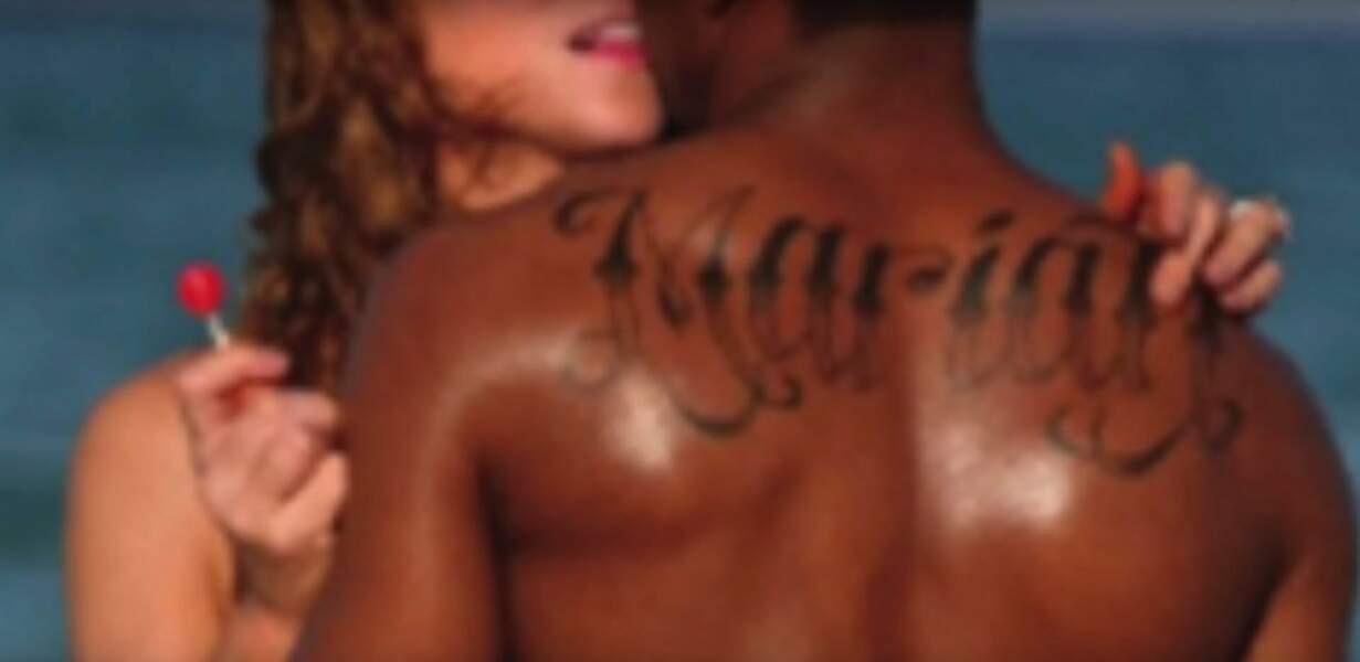 Le rappeur américain s'est fait tatouer son prénom en immenses lettres...