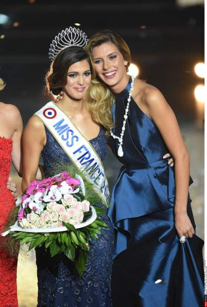 Camille Cerf, Miss France 2015, et Iris Mittenaere, Miss France 2016.