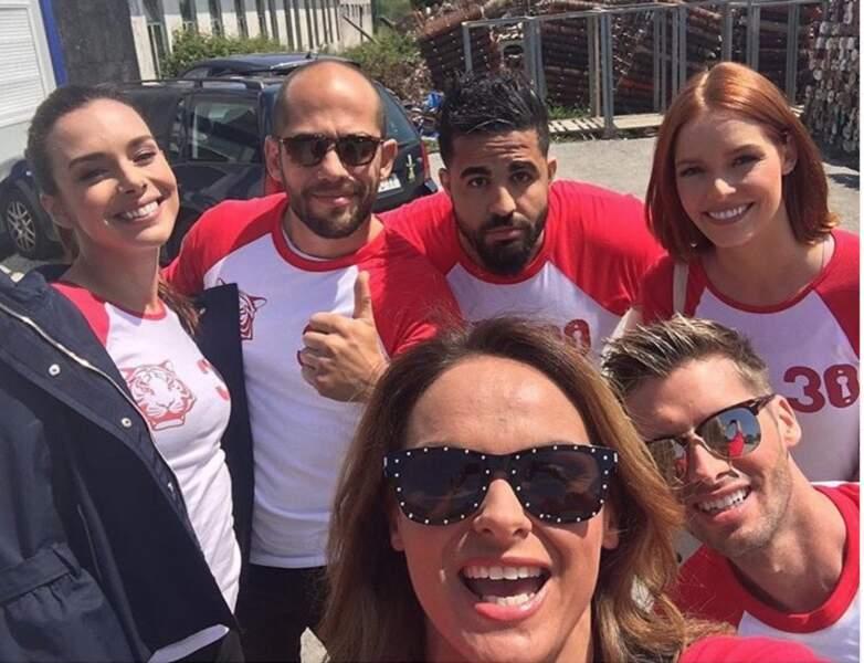 Une nouvelle équipe au grand complet : Adil Rami, Marine Lorphelin, Maëva Coucke, Benoit Dubois...