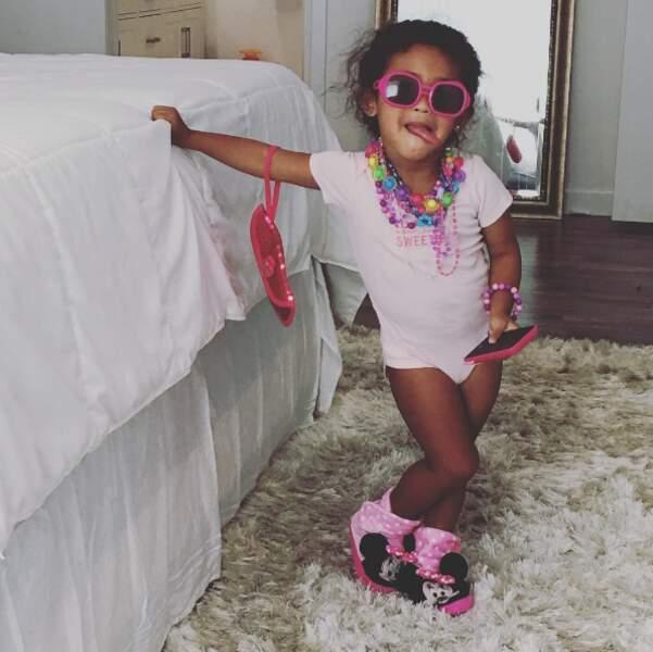 Chez Chris Brown, la petite Royalty est d'ores et déjà super girly. Trop chou.