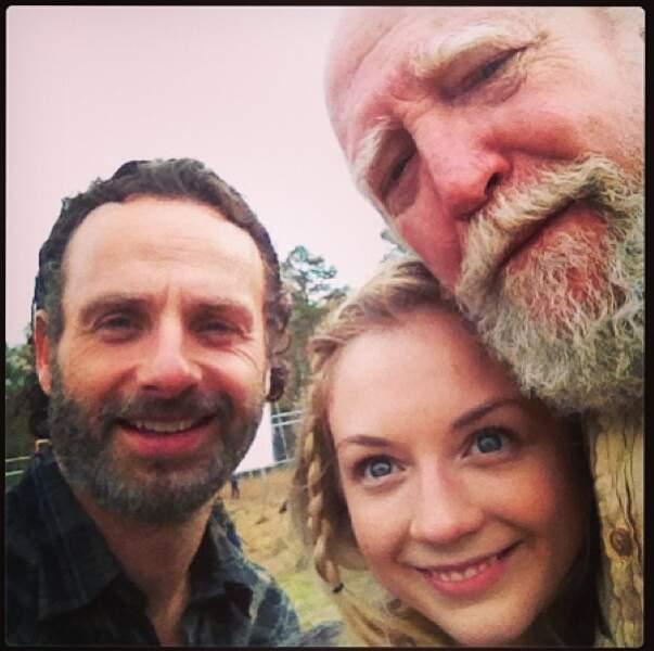 Photo de famille avec papa Hershel et tonton Rick