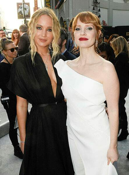 Jennifer Lawrence et Jessica Chastain